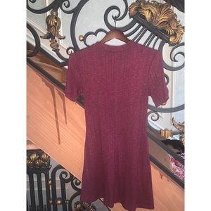 Maroon flowy casual dress size S